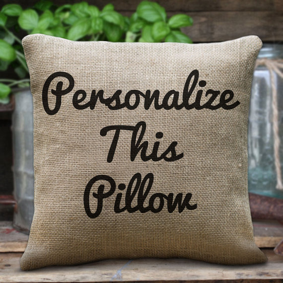 personalized pillow custom initial monogram pillow