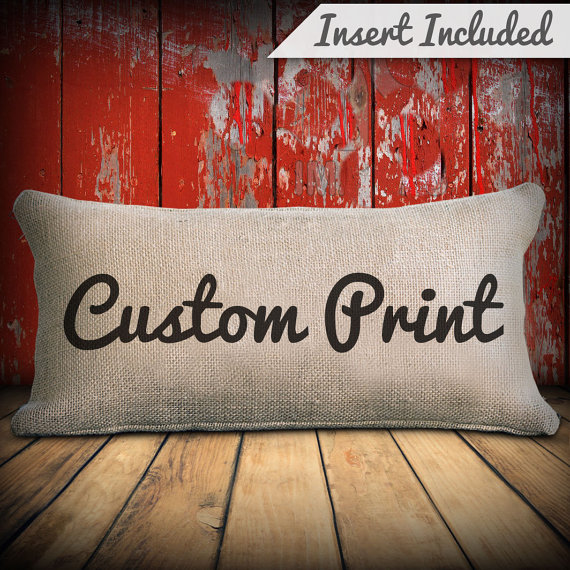 custom pillow size and print